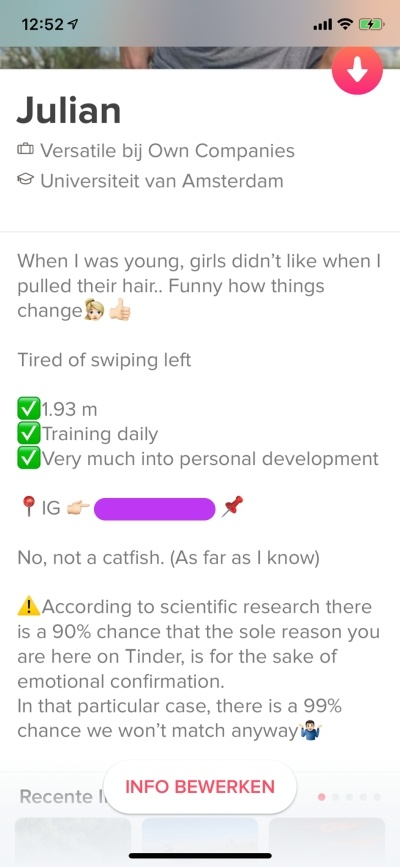 Me tinder off on show How to