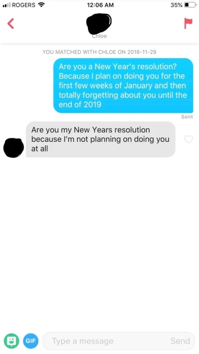 To send texts witty girl to a Slide Into